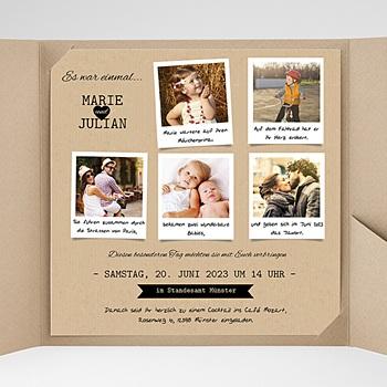 Hochzeitskarten Quadratisch - Liebesglück