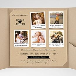Hochzeitskarten Quadratisch - Liebesglück - 0