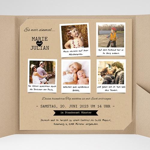 Hochzeitskarten Quadratisch - Liebesglück 38365 preview