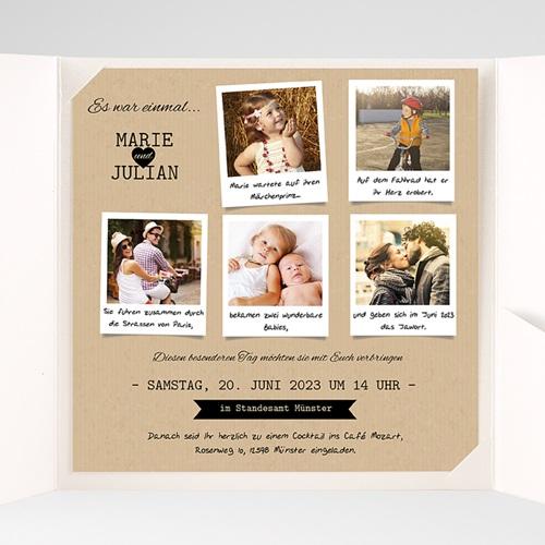 Hochzeitskarten Quadratisch - Liebesglück 38366 preview