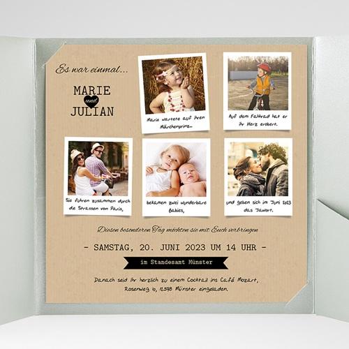 Hochzeitskarten Quadratisch - Liebesglück 38367 preview