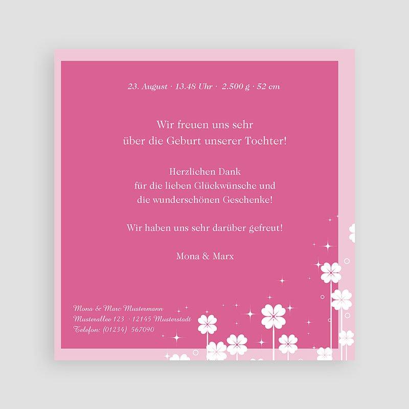Geburtskarten für Mädchen Kleine Blume pas cher