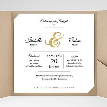 Hochzeitskarten Quadratisch - Typographie - 0