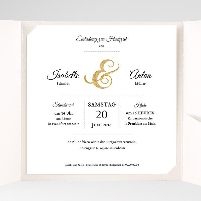 Hochzeitskarten Quadratisch Schriftmix pas cher