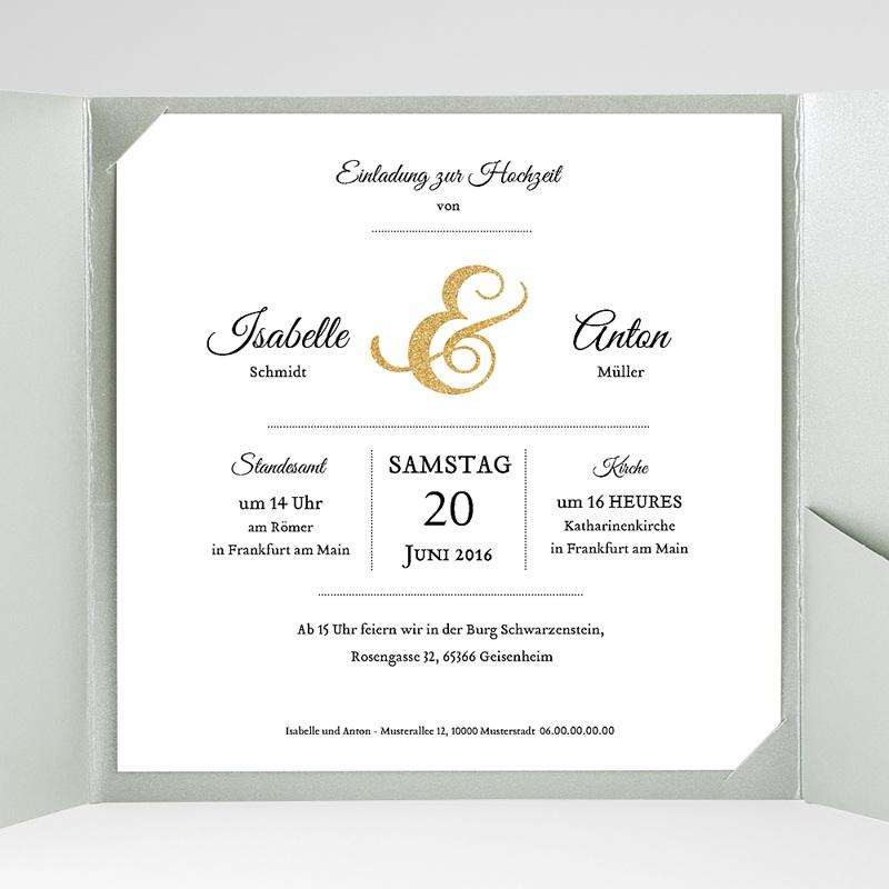 Hochzeitskarten Quadratisch Schriftmix gratuit
