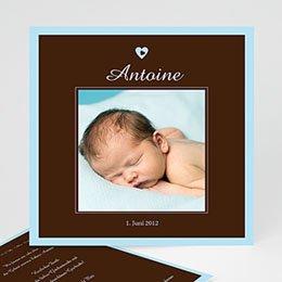 Geburtskarten für Jungen Braun blau