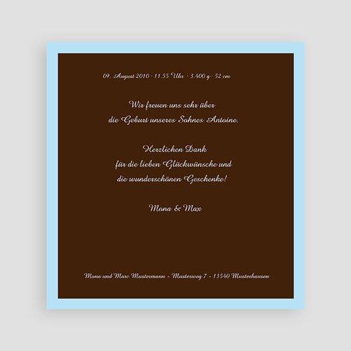 Geburtskarten für Jungen Braun blau pas cher
