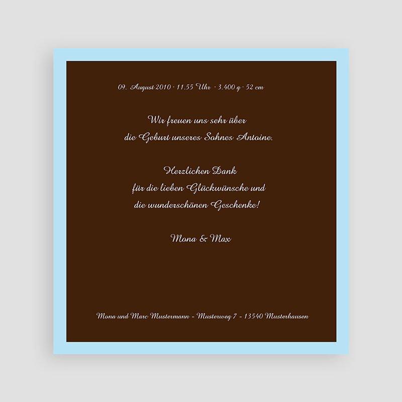 Geburtskarten für Jungen - Braun blau 3841 thumb