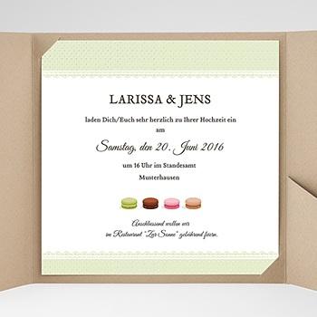 Hochzeitskarten Quadratisch - Makrönchen - 0