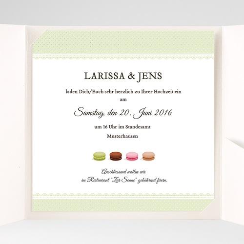 Hochzeitskarten Quadratisch Makrönchen pas cher
