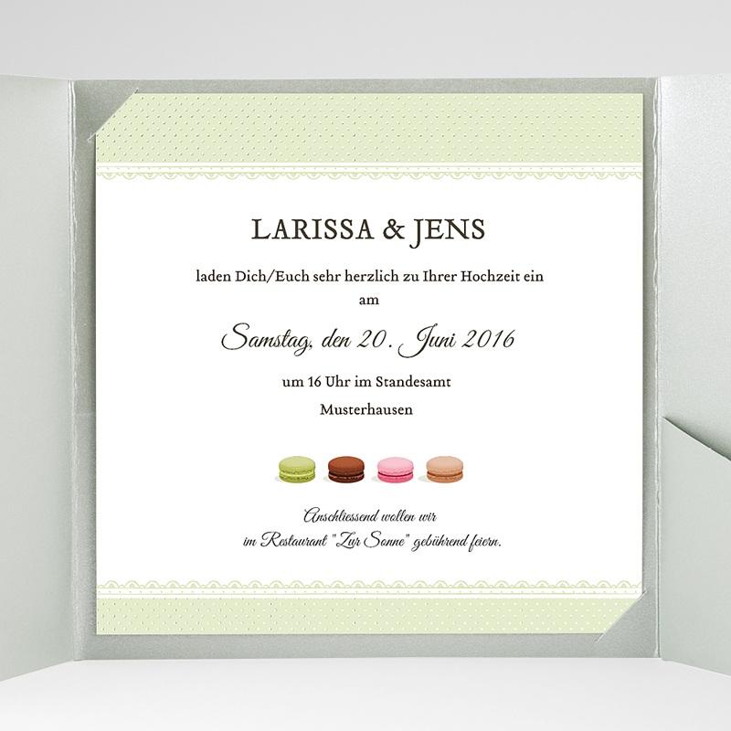 Hochzeitskarten Quadratisch Makrönchen gratuit