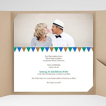 Hochzeitskarten Quadratisch - Mosaikdesign - 0