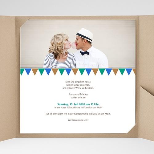 Hochzeitskarten Quadratisch - Mosaikdesign 38421 preview