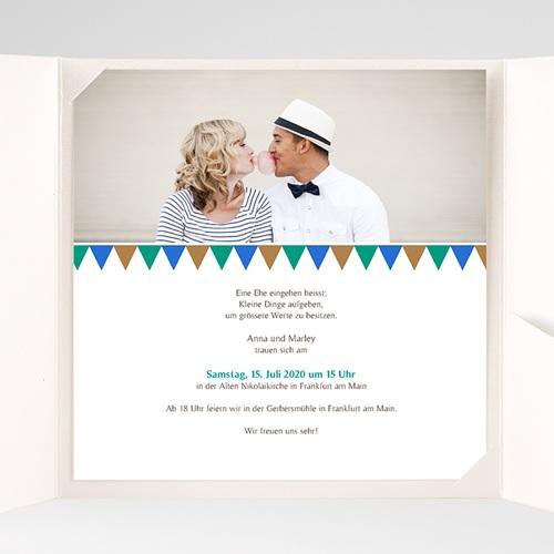 Hochzeitskarten Quadratisch - Mosaikdesign 38422 preview