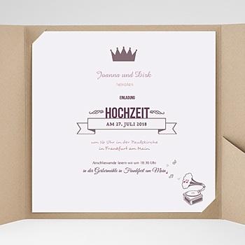 Hochzeitskarten Quadratisch - Zarte Töne - 0