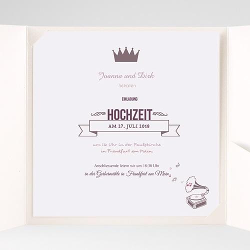 Hochzeitskarten Quadratisch Zarte Töne pas cher