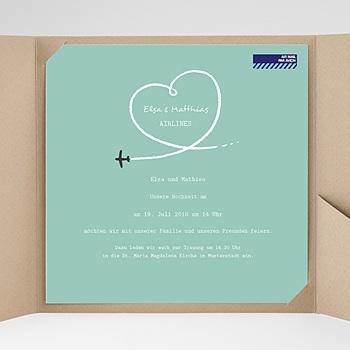 Hochzeitskarten Quadratisch - Weltenbummler - 0