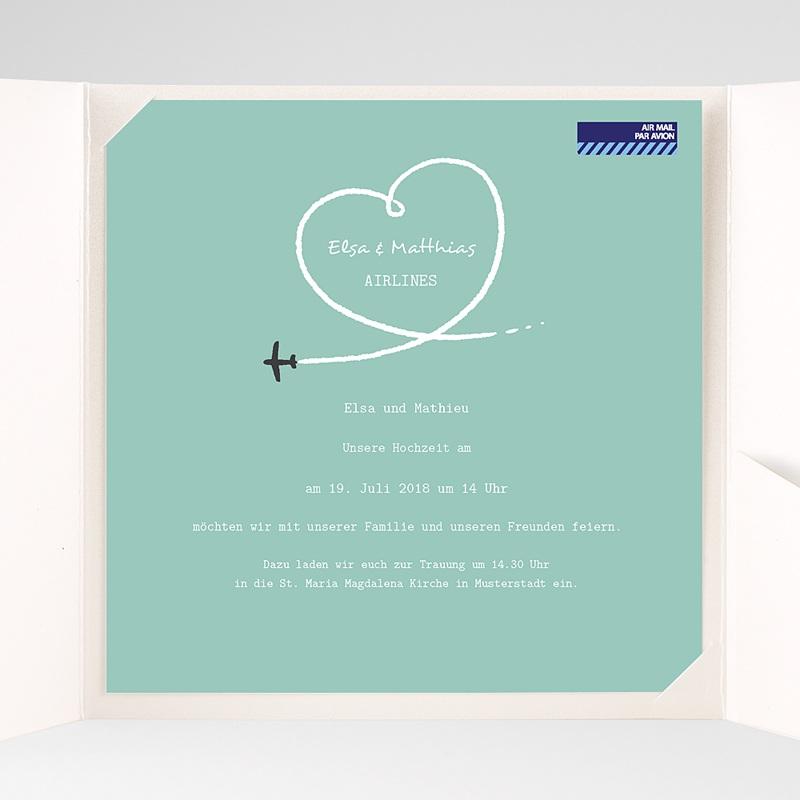 Hochzeitskarten Quadratisch Flieg pas cher