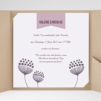 Hochzeitskarten Quadratisch - Violett - 0