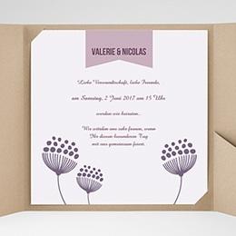 Karten Hochzeit Violett