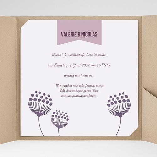 Hochzeitskarten Quadratisch - Violett 38457 preview