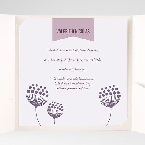 Hochzeitskarten Quadratisch - Violett 38458 preview