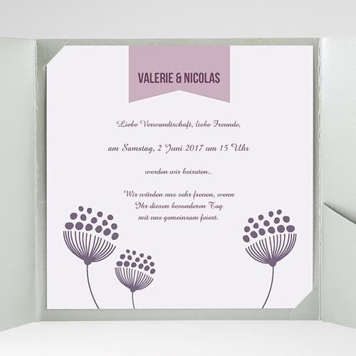 Hochzeitskarten Quadratisch - Violett 38459 preview