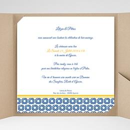 Hochzeitskarten Quadratisch - Design Lissabon - 0