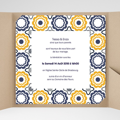 Hochzeitskarten Quadratisch - Azulejo 38477 preview