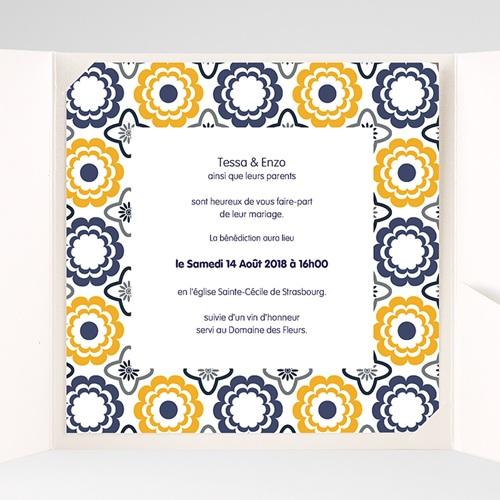 Hochzeitskarten Quadratisch - Azulejo 38478 preview