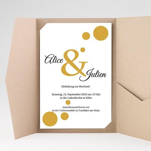 Hochzeitskarten Querformat - Konfetti 38525