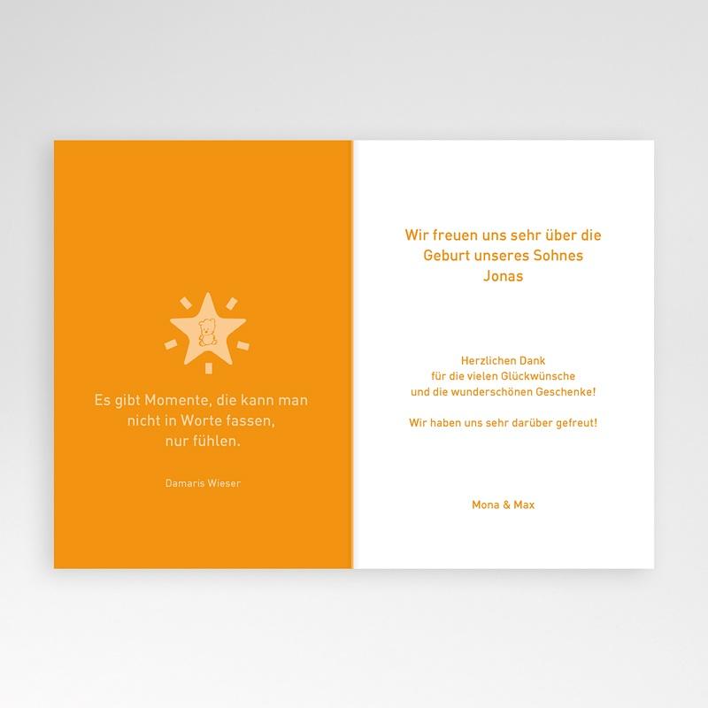 Geburtskarten für Jungen - Orange 3865 thumb