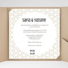 Hochzeitskarten Quadratisch - Fatima - 0