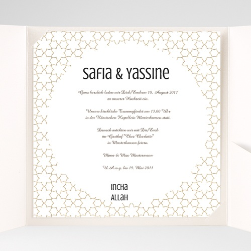 Hochzeitskarten Quadratisch Fatima pas cher