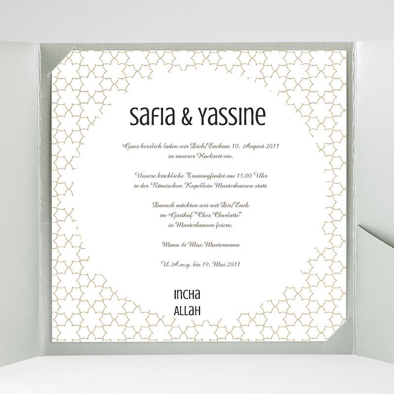 Hochzeitskarten Quadratisch Fatima gratuit