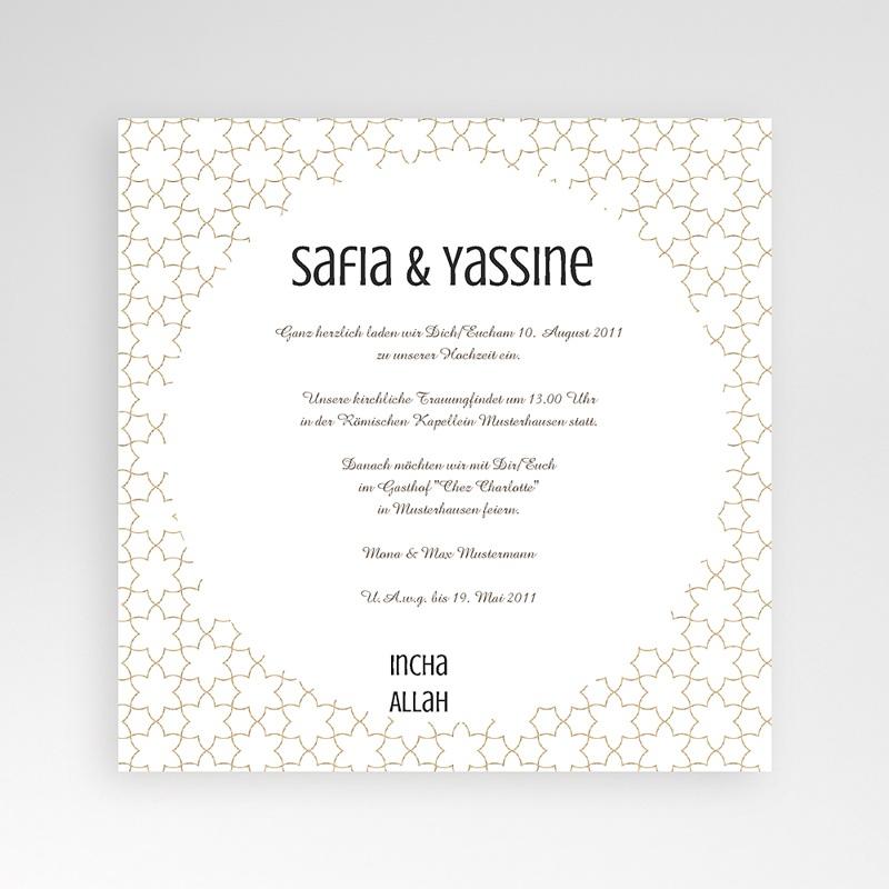 Hochzeitskarten Quadratisch Fatima