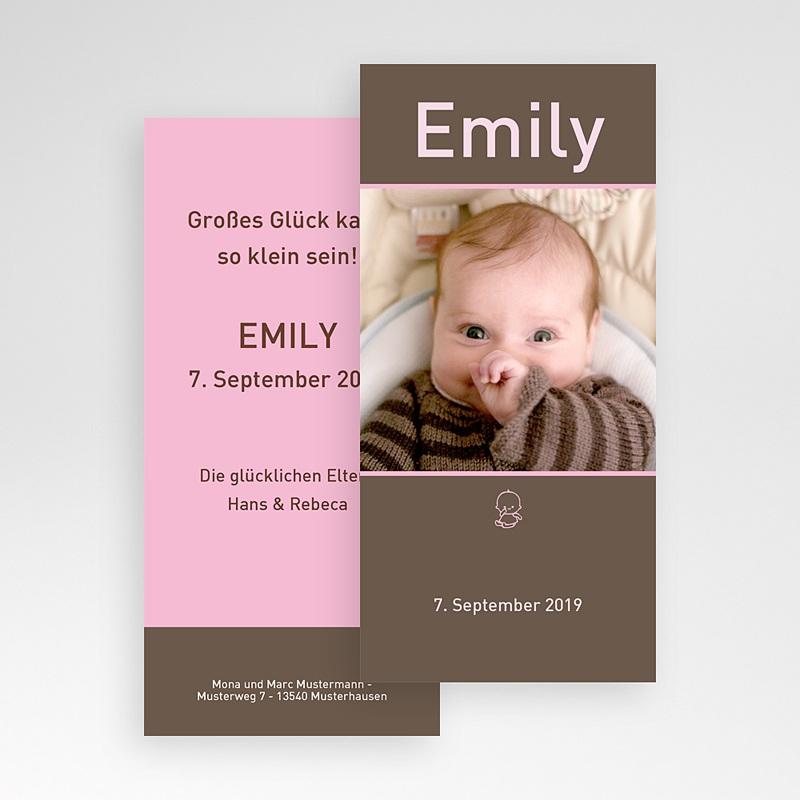 Geburtskarten für Mädchen Portrait pas cher