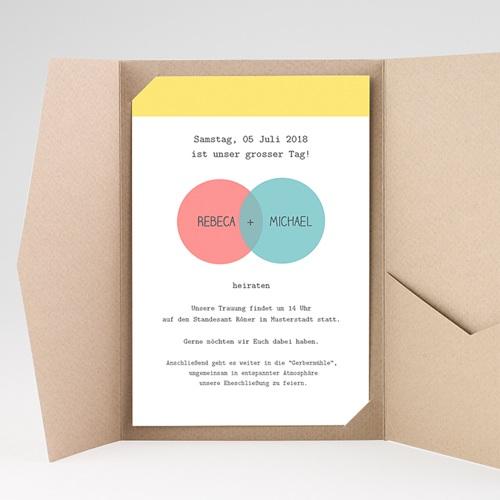 Hochzeitskarten Querformat - Pastell 38865 preview