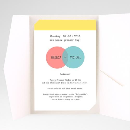 Hochzeitskarten Querformat - Pastell 38866 preview