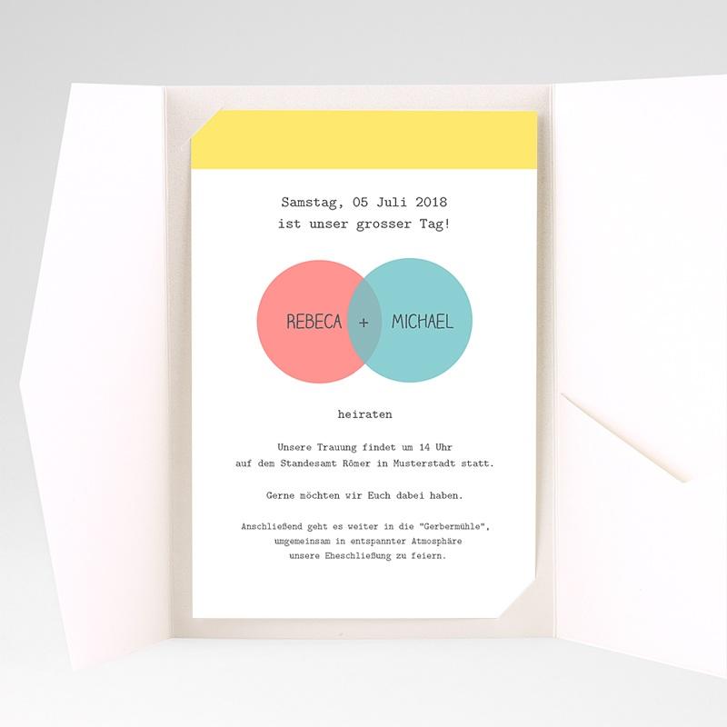 Hochzeitskarten Querformat - Pastell 38866 thumb