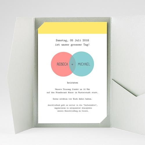 Hochzeitskarten Querformat - Pastell 38867 preview