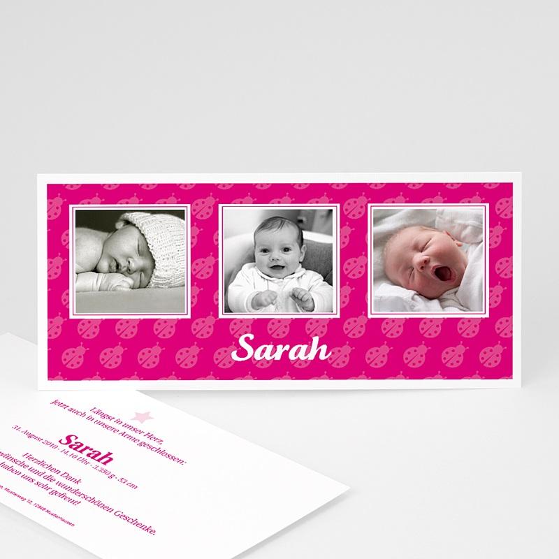 Geburtskarten für Mädchen Marienkäfer