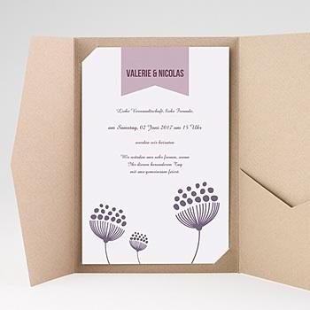 Hochzeitskarten Querformat - Violett - 0