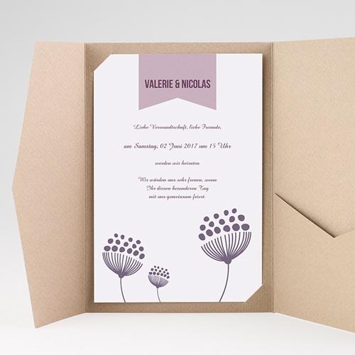 Hochzeitskarten Querformat - Violetta 38929 test