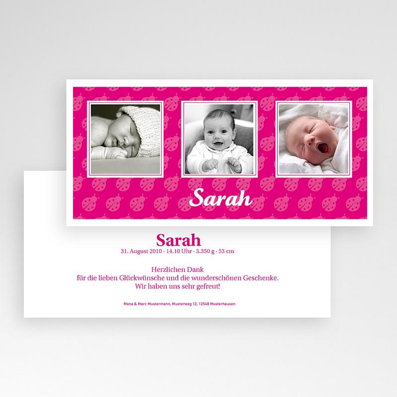 Geburtskarten für Mädchen Marienkäfer pas cher