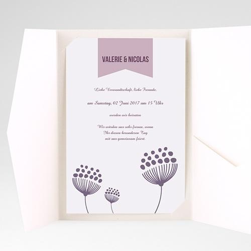 Hochzeitskarten Querformat - Violetta 38930 test