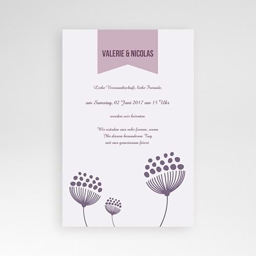Hochzeitskarten Querformat - Violetta 38932 test
