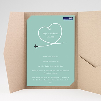 Hochzeitskarten Querformat Weltenbummler
