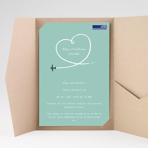 Hochzeitskarten Querformat - Weltenbummler 38957 preview