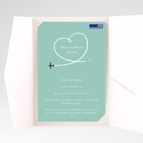 Hochzeitskarten Querformat - Weltenbummler 38958 preview